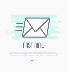 fast mail or e-mail symbol vector image