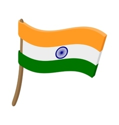 Flag of India icon cartoon style vector image