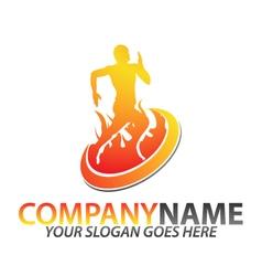 Gym logo template vector