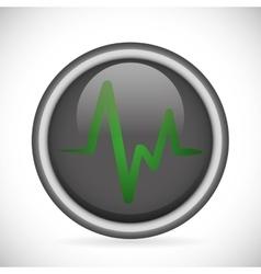 Heart pulse heatlhcare vector
