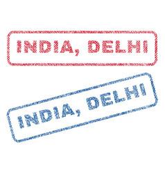 India delhi textile stamps vector