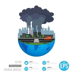 Industry earth concept for vector