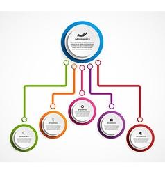 Infographic design organization chart template vector