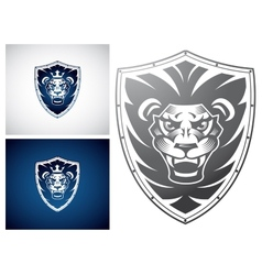 Lion on a shield vector