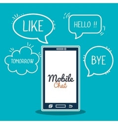 mobile chat design vector image
