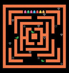 monsters maze game design vector image vector image