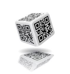 QR code cube vector image