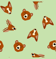Seamless pattern of color animals vector