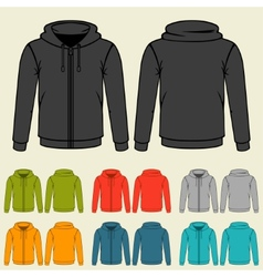 Set of templates colored sweatshirts for men vector