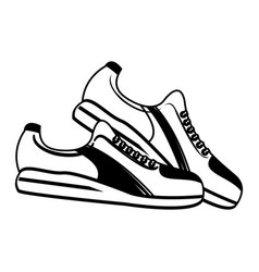 Single sneaker sport shoe icon image vector
