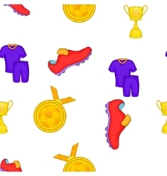 Soccer equipment pattern cartoon style vector image