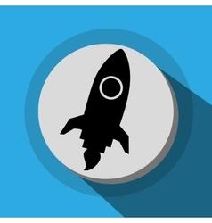 Spaceship launch icon vector