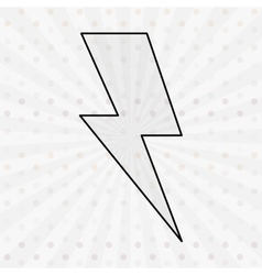 Thunder icon design vector