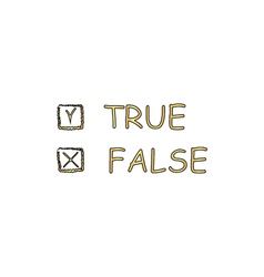True and false computer symbol vector