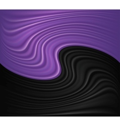Wave violet and black background vector