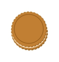 Cookie dessert cute sweet food icon vector
