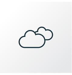 Cloudy sky outline symbol premium quality vector