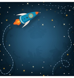 Spaceship with space for your text vector image