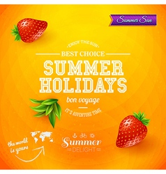 Summer design bright poster for summer holidays vector