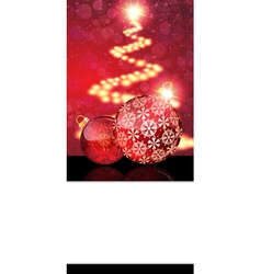 Red christmas ornaments and abstract christmas vector