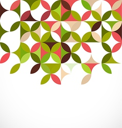 Abstract colorful floral pattern concept vector