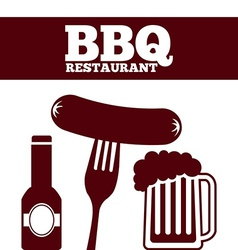 Delicious barbecue vector