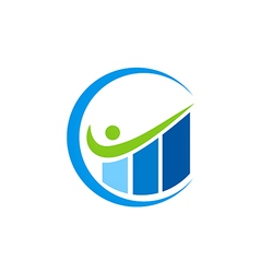 Graph business finance level up logo vector