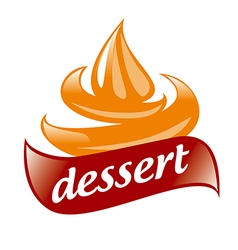 Abstract logo cream for dessert vector