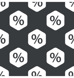 Black hexagon percent pattern vector