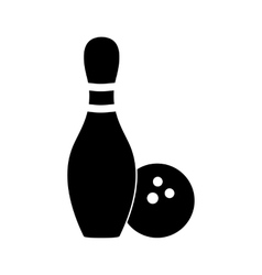 Bowling simple icon vector
