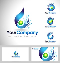 Water logo design vector