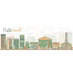Abstract richmond virginia skyline vector