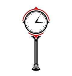 Station clock icon simple style vector