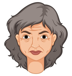 Adult woman with aged skin vector