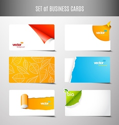 Set of 6 type of creative business cards vector image