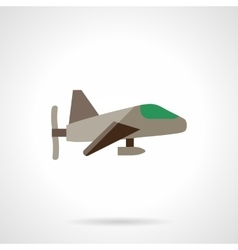 Airplane with propeller flat design icon vector image