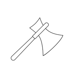 Ancient axe thin line icon vector image