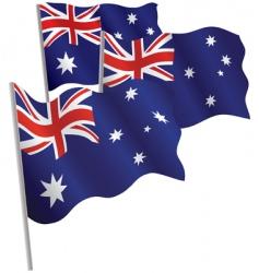 Australia 3d flag vector