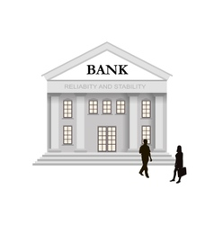Bank building in classical style with columns and vector