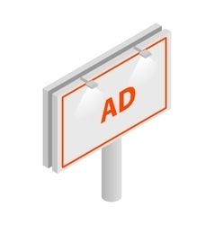 Billboard icon isometric 3d style vector image vector image