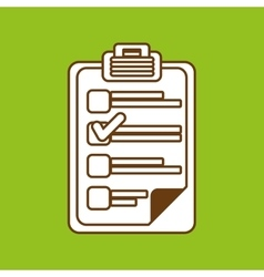 checklist icon design vector image