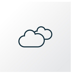 Cloudy sky outline symbol premium quality vector