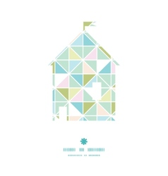 colorful pastel triangle texture house silhouette vector image vector image
