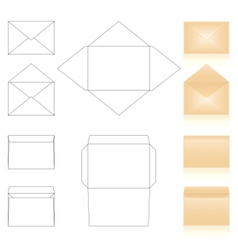 envelopes templates vector image vector image