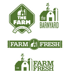 farm and barn logos vector image