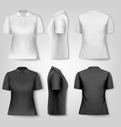 Female polo shirts Design template vector image vector image