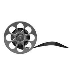 Film icon gray monochrome style vector