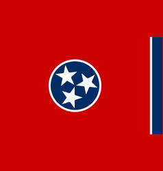 flag of tennessee vector image vector image