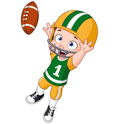 football kid vector image vector image