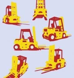 fork trucks vector image